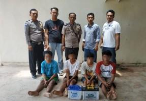 Polsek Rawajitu Selatan Tangkap Komplotan Pencuri di Bawah Umur