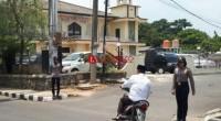 Polwan Polres Lampung Utara Giat Laksanakan Pengamanan Salat Jumat