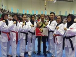 Polwan Polres Lampung Utara Juara 3 Kejuaraan Taekwondo Kapolri Cup 2018