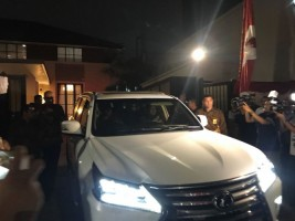 Prabowo Kembali Sambangi Kediaman SBY