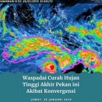 Prakiraan BMKG, Curah Hujan Tinggi sampai Akhir Januari