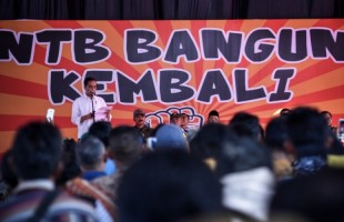 Presiden Jokowi Pastikan Lombok Bangkit