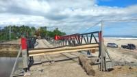 Pembangunan Jembatan Permanen di Krui Selatan Dimulai Akhir Lebaran