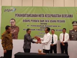 PTPN7-Kejati Sumsel Teken Kerjasama Pendampingan Hukum