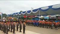 Puluhan Pelajar SD Ikuti Lomba Polisi Cilik di Islamic Center Tubaba