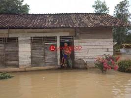Puluhan Rumah di Simpang Pematang Terendam Banjir