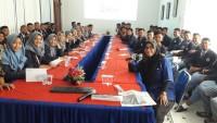 Puluhan Siswa SMK Kosgoro Tulangbawang Belajar Jurnalistik di Lampung Post