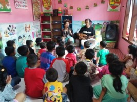 Puspa Lampung Ceritakan Dongeng Anak di Kelurahan Enggal