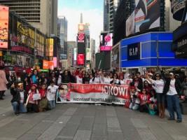Rally New York for Jokowi-Ma'ruf Amin