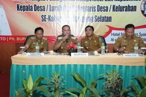 Ratusan Aparatur se-Lamsel Ikuti Pembinaan Administrasi Desa