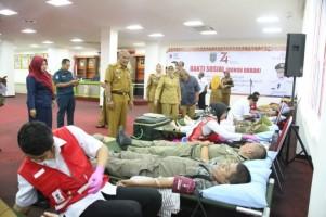 Ratusan ASN Pemprov Donorkan Darah