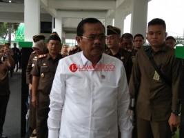 Ratusan Jaksa Kejati Lampung Sambut Kedatangan HM Prasetyo