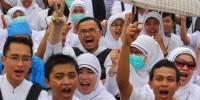Ratusan Perawat Pesawaran Ikut Aksi Solidaritas untuk Jumraini