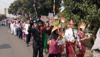 Ratusan Warga Dusun III Desa Bangunan Ikuti Pawai Karnaval