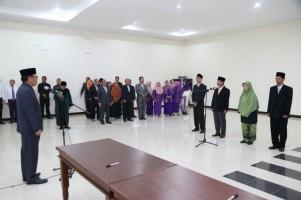 Rektor Unila Lantik 4 Pejabat Baru Unila