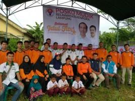 Relawan Kempenpora Lampung Buka Posko Mudik di Natar