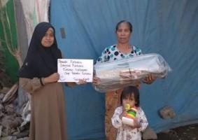 Relawan Pustaka Bergerak Bakauheni Galang Dana untuk Korban Gempa Lombok