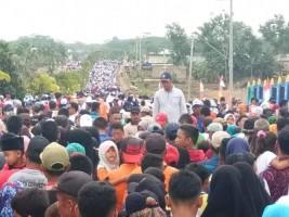 Ribuan Masyarakat Ikuti Jalan Sehat HUT Mesuji