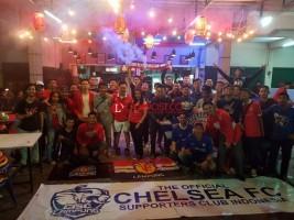 Ridho Berbaur Nobar dengan Fans Sepakbola Liga Inggris