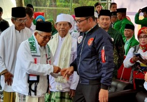 Ridwan Kamil Dampingi Ma'ruf Kampanye di Bandung
