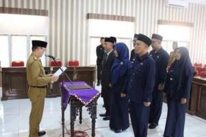Saipul Lantik Pejabat Struktural di Lingkup Pemkab Way Kanan