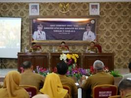 Saipul Pimpin Rakor Evaluasi KLA Triwulan IV 2018