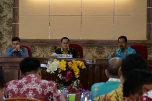 Saipul Pimpin Rakor Pembahasan Tugas dan Fungsi SKPD Way Kanan