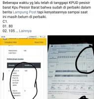 Salah Input Penghitungan Suara C1 di Balai Kencana Oleh KPU Belum Diperbaiki