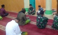 Salat Subuh Berjamaah, Dandim 0426 Ajak Warga Pelihara Situasi Tetap Kondusif Usai Pemilu