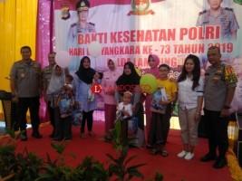Sambut HUT Ke-73 Bhayangkara, Polda Lampung Gelar Hari Bakti Kesehatan