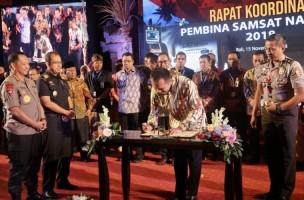 Komitmen Nasional Lampung Lebih Dahulu Lakukan Samsat Online