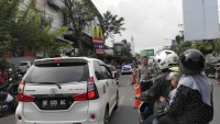 Satlantas Kanalisasi Jalan RA Kartini depan CP