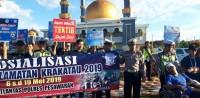 Satlantas Pesawaran Sosialisasi Operasi Keselamatan Krakatau