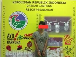 Satres Narkoba Pesawaran Tangkap Pengedar Sabu