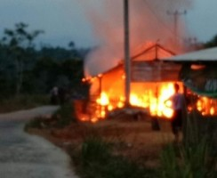 Satu Rumah Warga Sumberjaya Terbakar