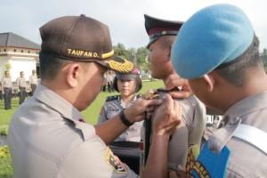 50 Siswa Bintara Polri Ikuti Latihan Kerja di Polres Lampung Timur