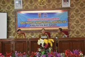 Sekkab Way Kanan Buka Pelatihan Program KKBPK Bagi Kepala Kampung