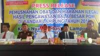 Selama 2018 Balai BPOM Serahkan Kasus ke PN Bandar Lampung