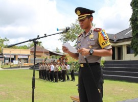 Siap Amankan Pilkades, Mapolres Way Kanan Gelar Apel Kesiapan Pengamanan