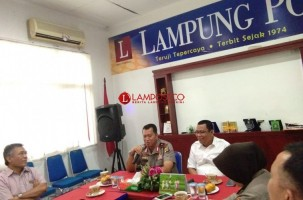 Polda Sinergi dengan Lampung Post Wujudkan Polisi Modern