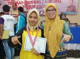 Siswa SMKN 7 Bandar Lampung Juara Karate Provinsi