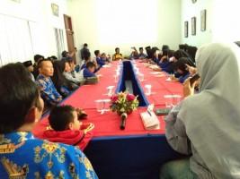 Siswa SMP Ma'Arif 04 Belajar Jurnalistik di Lampung Post