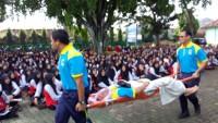 SMAN 9 Bandar Lampung Gelar Simulasi Bencana