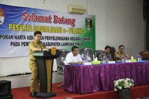 Sosialisasi Pengisian E-Filling LHKPN di Lamtim