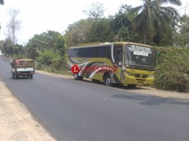 Sudah Sebulan, Bus Lintas Teronggok di Pinggir Jalan