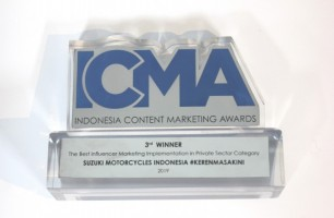 Suzuki Raih Posisi Ketiga Best Influencer Marketing Award di ICMA 2019