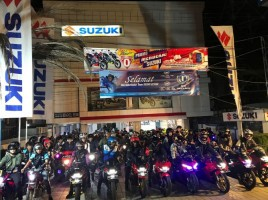 Suzuki Saturday Night Ride Sukses Digelar di Banjarmasin