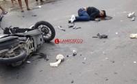 Tabrakan dengan Truk, Pengendara Honda Beat Kritis