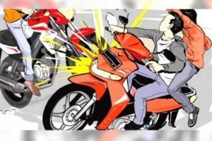 Tabrakan Sepeda Motor, Satu Korban Tewas Tiga Luka Berat