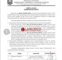 Tak Ada Pembatalan SK Mutasi di Lampung Utara